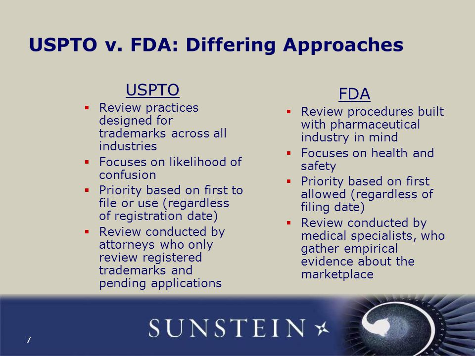 USPTO v. FDA: Differing Approaches
