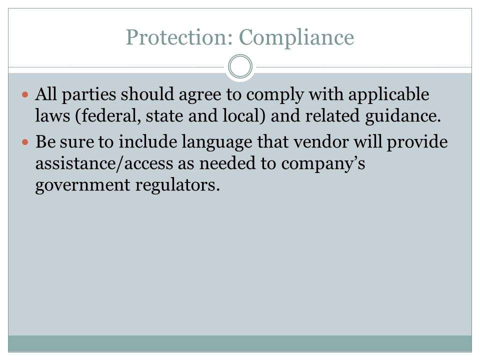Protection: Compliance