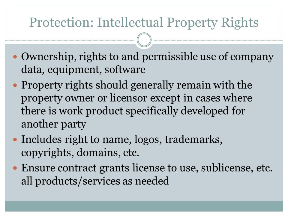 Protection: Intellectual Property Rights