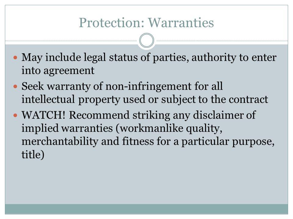 Protection: Warranties