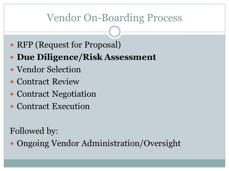 Vendor On-Boarding Process