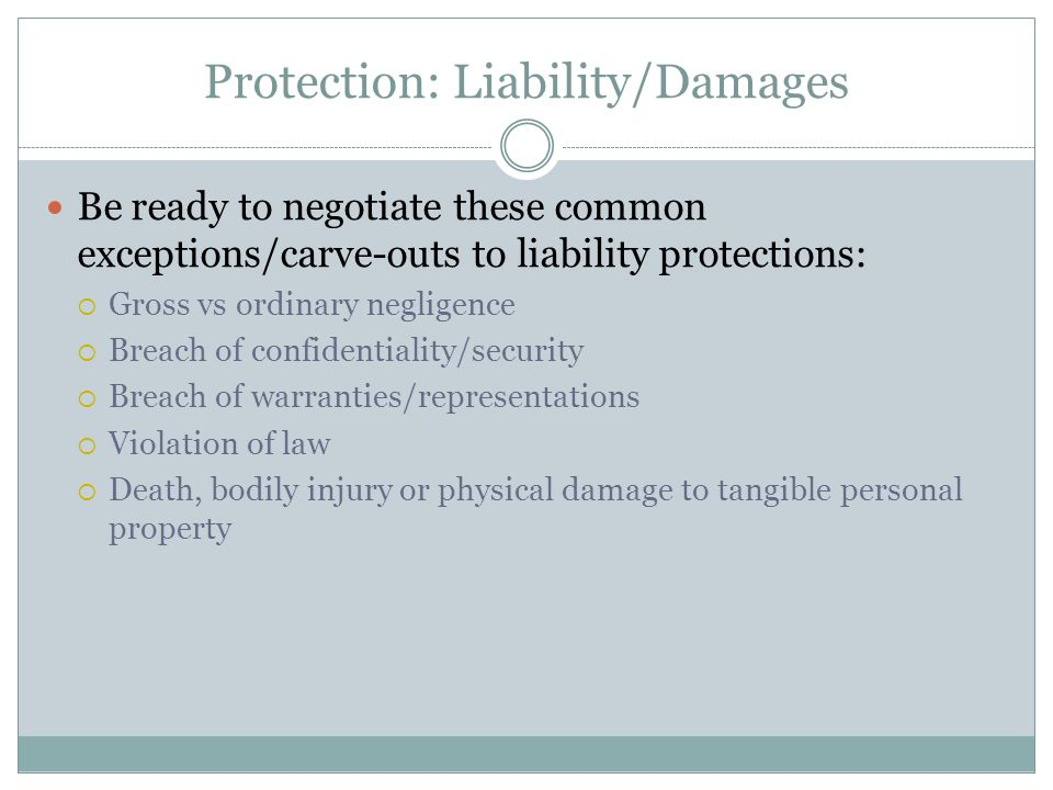 Protection: Liability/Damages