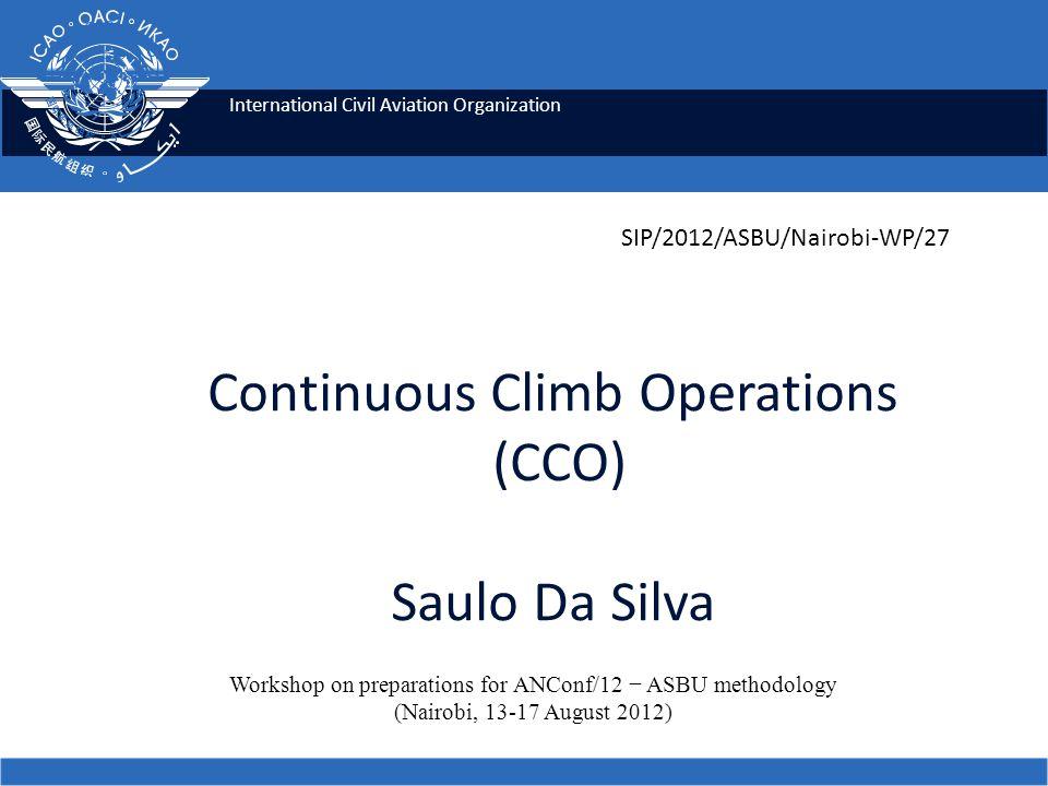 Continuous Climb Operations (CCO) Saulo Da Silva