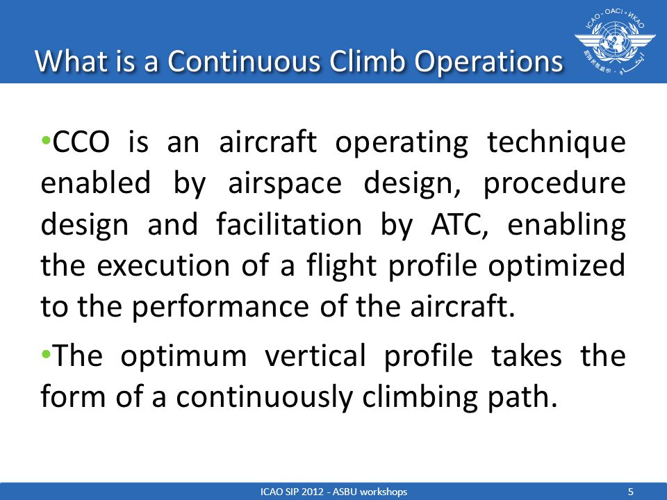 What is a Continuous Climb Operations