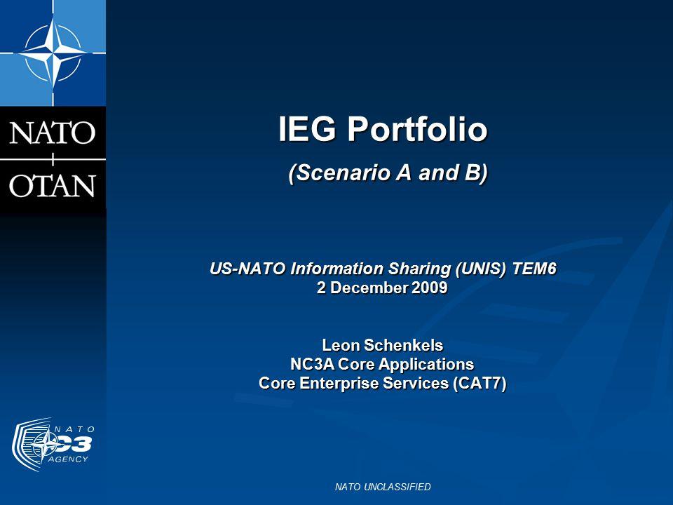 IEG Portfolio (Scenario A and B)