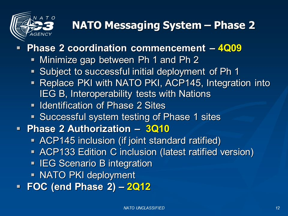 NATO Messaging System – Phase 2