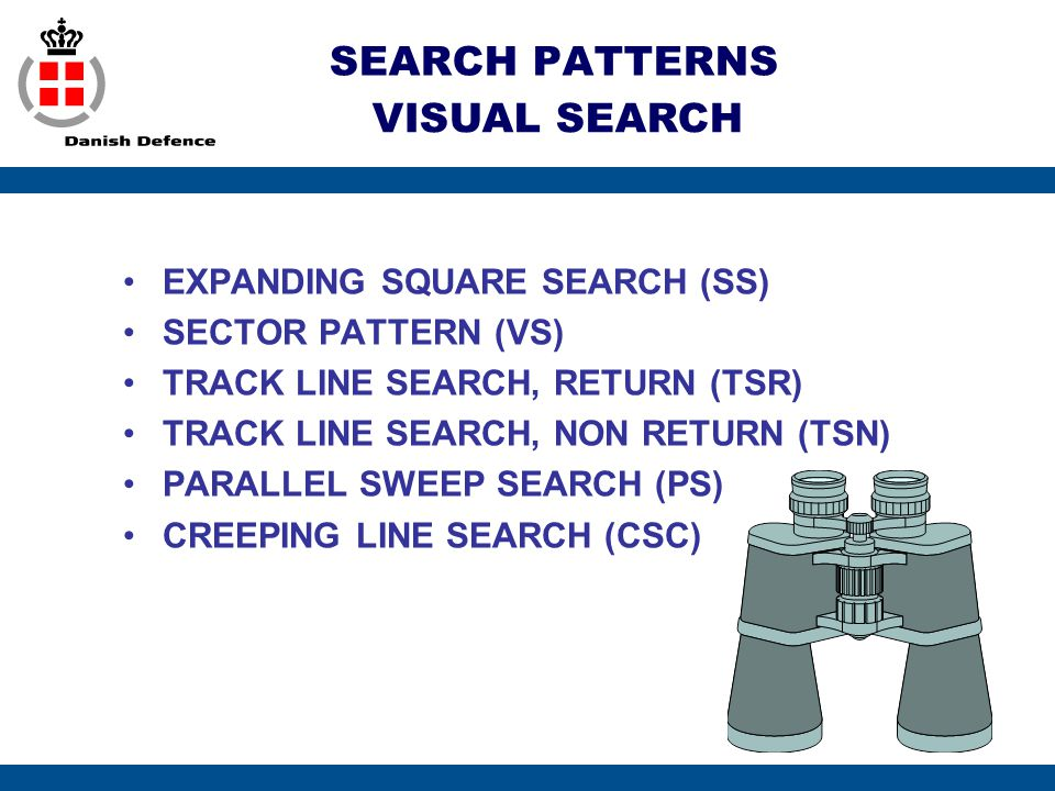 SEARCH PATTERNS VISUAL SEARCH EXPANDING SQUARE SEARCH (SS)