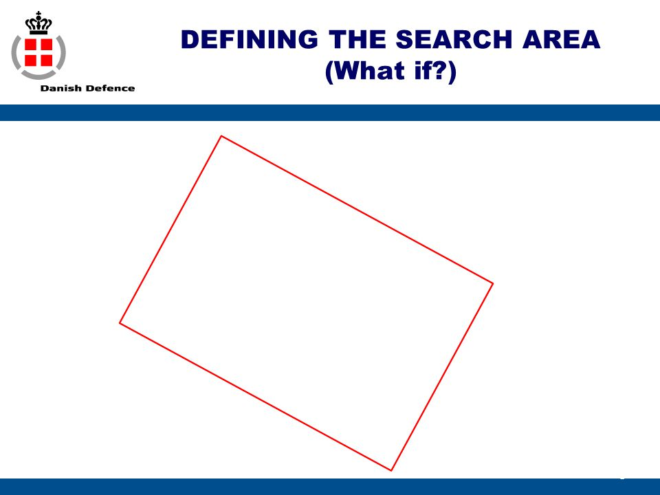 DEFINING THE SEARCH AREA (What if )