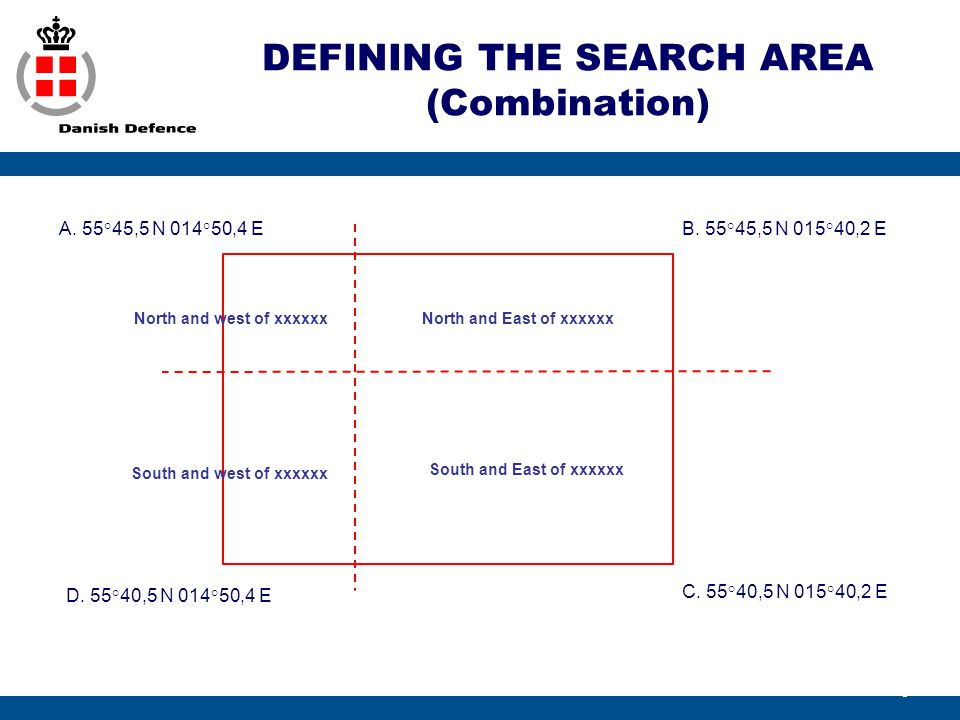 DEFINING THE SEARCH AREA (Combination)