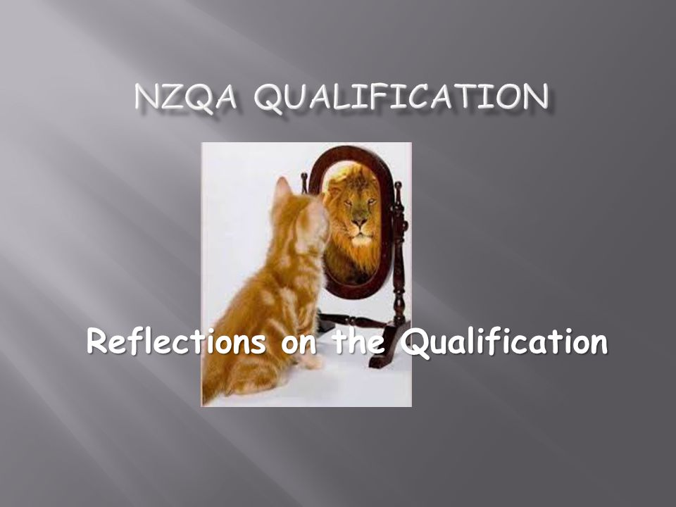 NZQA Qualification Reflections on the Qualification