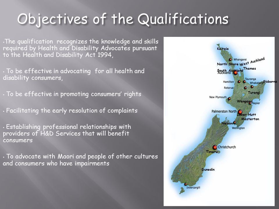 Objectives of the Qualifications