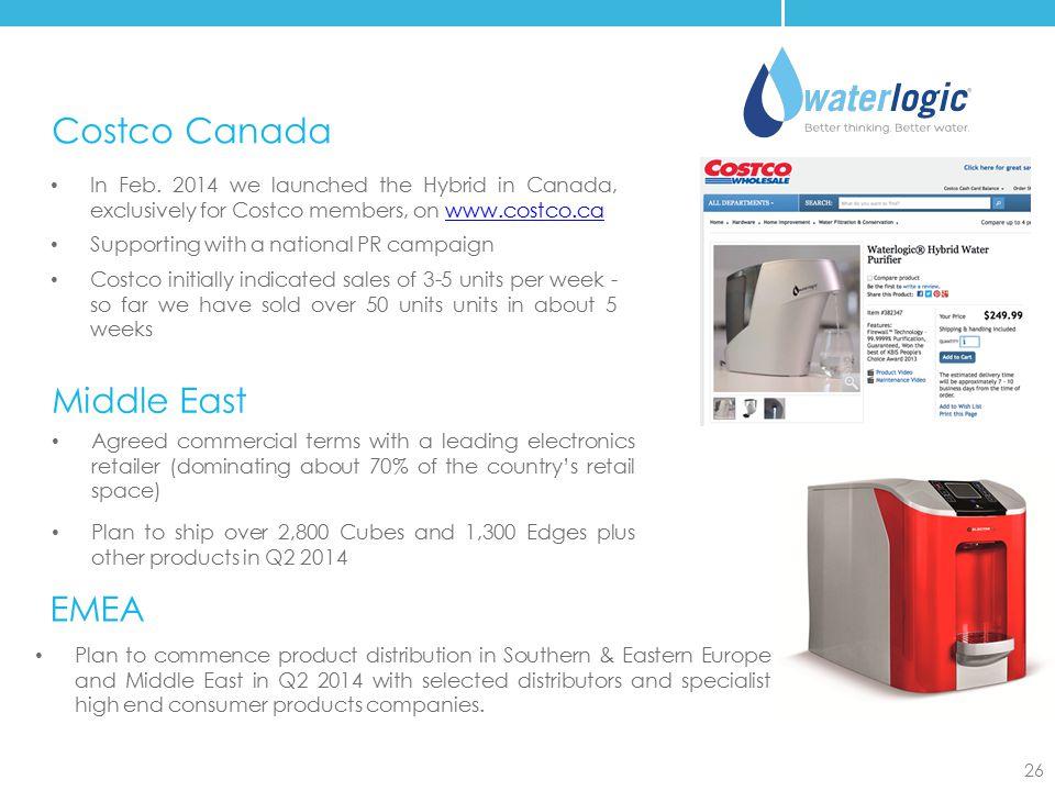 Costco Canada Middle East EMEA
