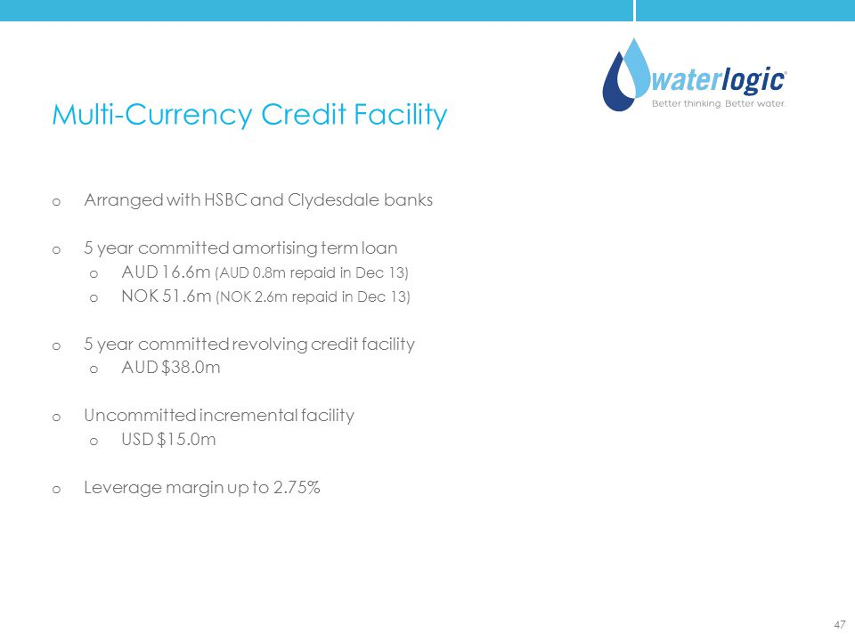 Multi-Currency Credit Facility