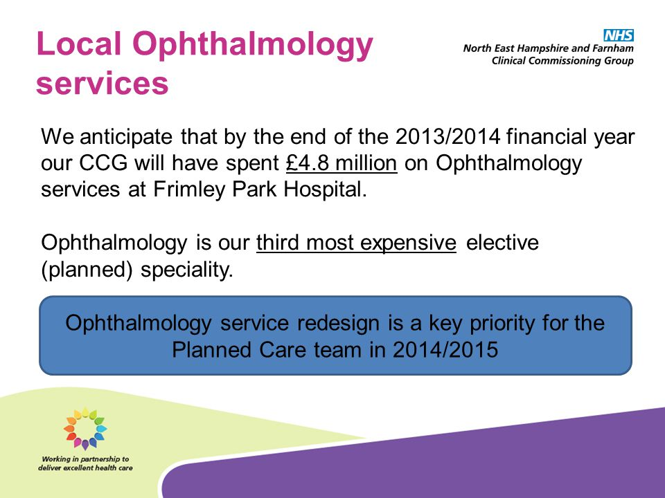 Local Ophthalmology services