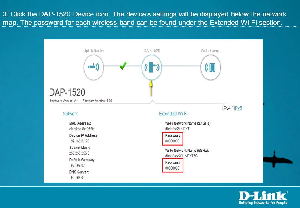 3: Click the DAP-1520 Device icon