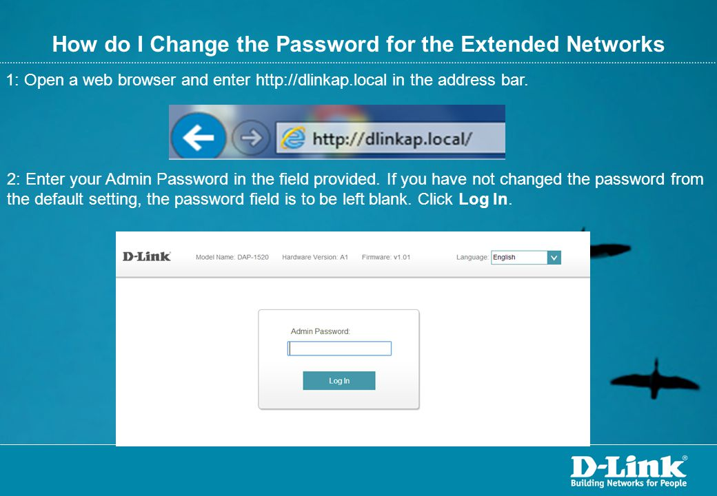 How do I Change the Password for the Extended Networks