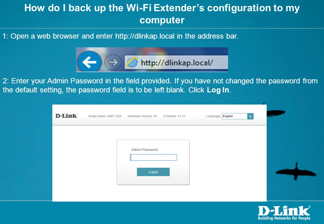 How do I back up the Wi-Fi Extender's configuration to my computer