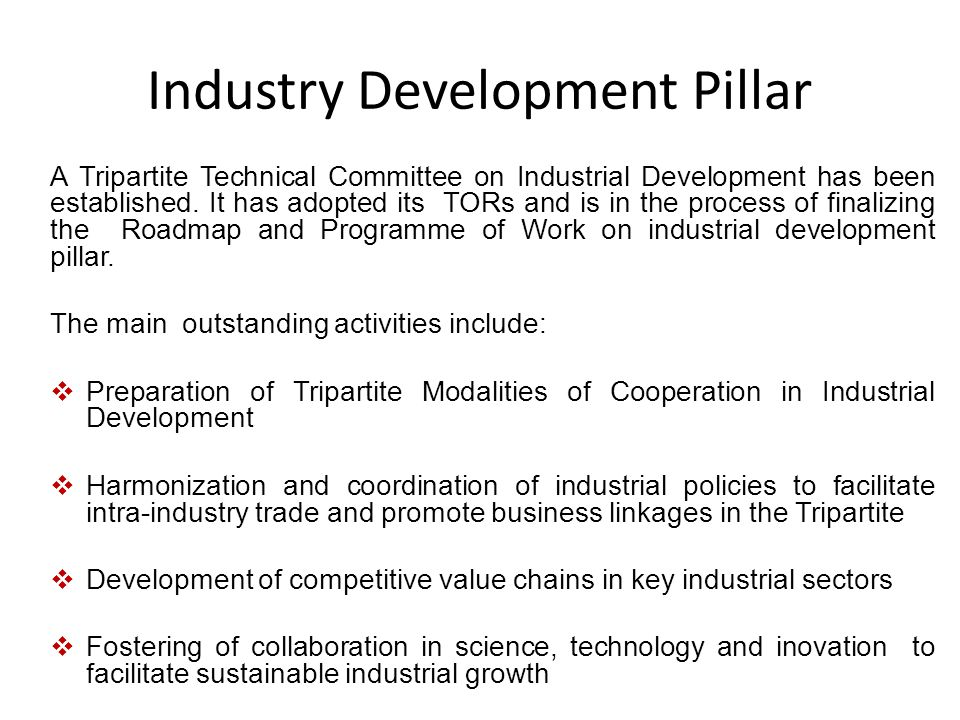 Industry Development Pillar