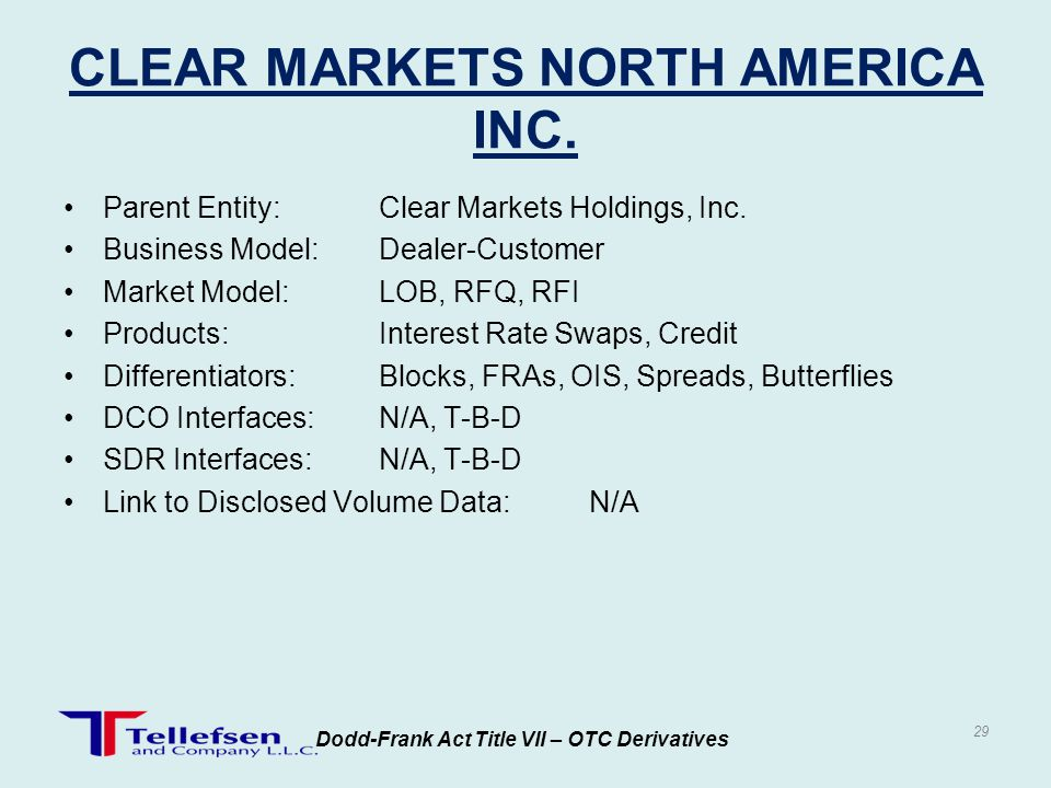 CLEAR MARKETS NORTH AMERICA INC.