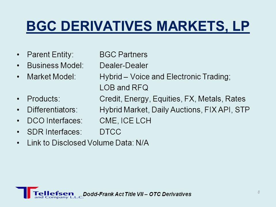 BGC DERIVATIVES MARKETS, LP