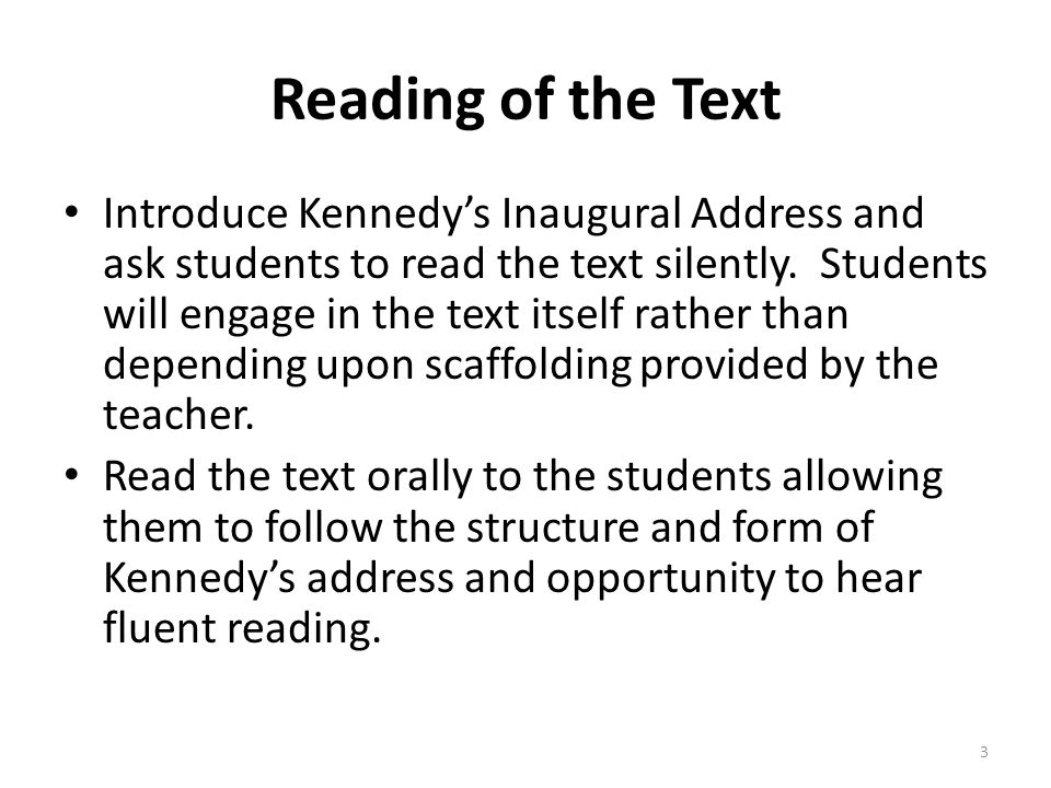 Reading of the Text