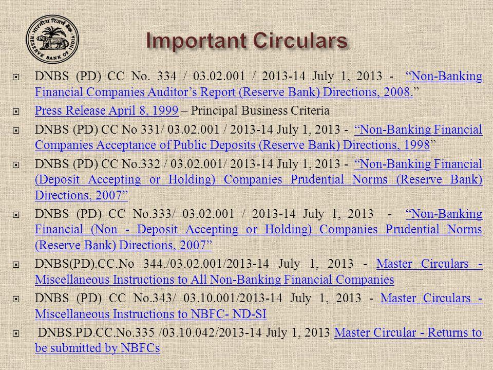 Important Circulars