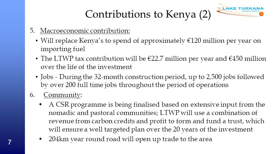 Contributions to Kenya (2)