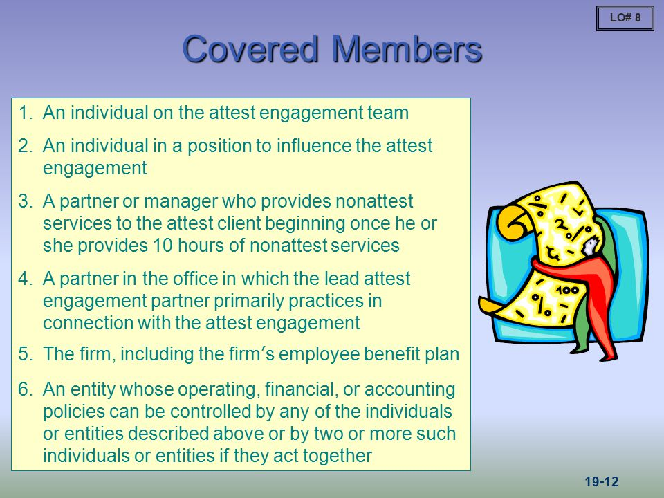 Covered Members An individual on the attest engagement team