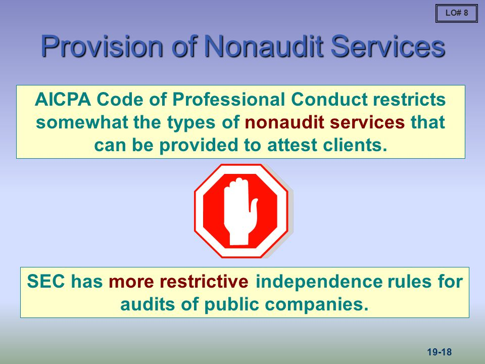 non audit services Eu audit legislation non-audit services and fee cap october 2016 1 guidance on non-audit services and fee cap the eu audit legislation introduces restrictions on the.