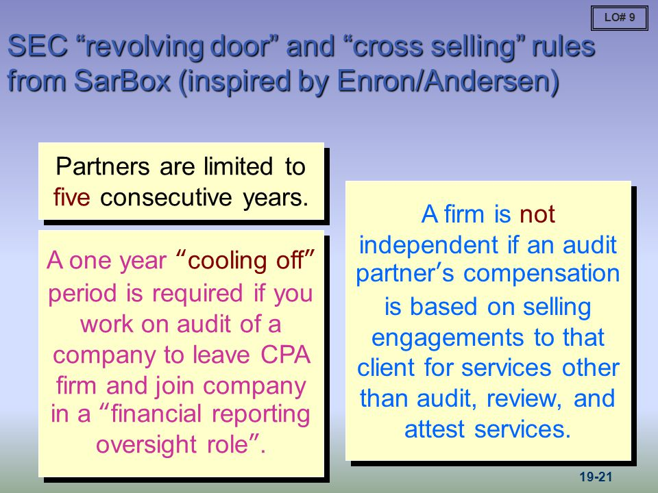 Partners are limited to five consecutive years.