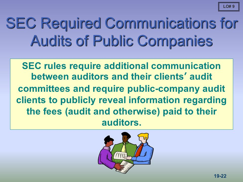 SEC Required Communications for Audits of Public Companies