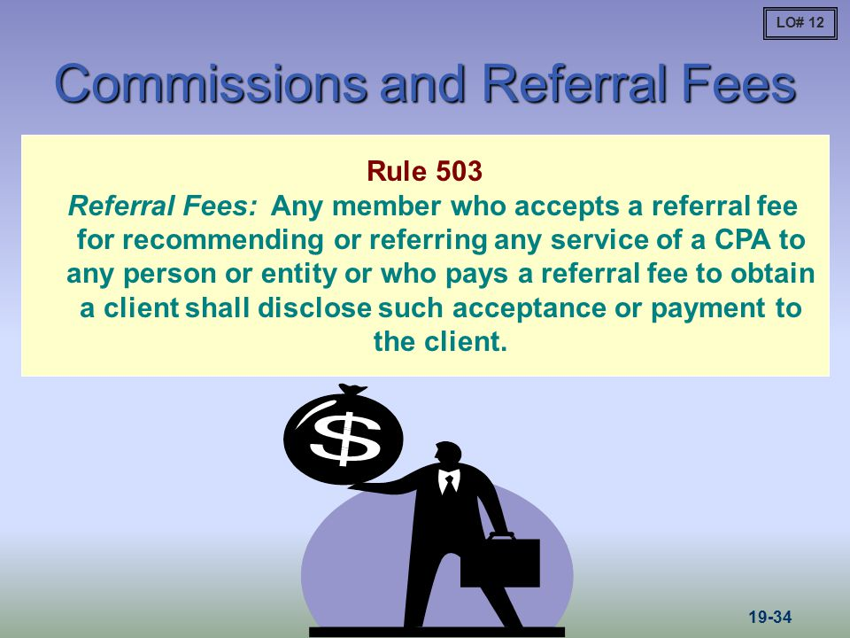 Commissions and Referral Fees