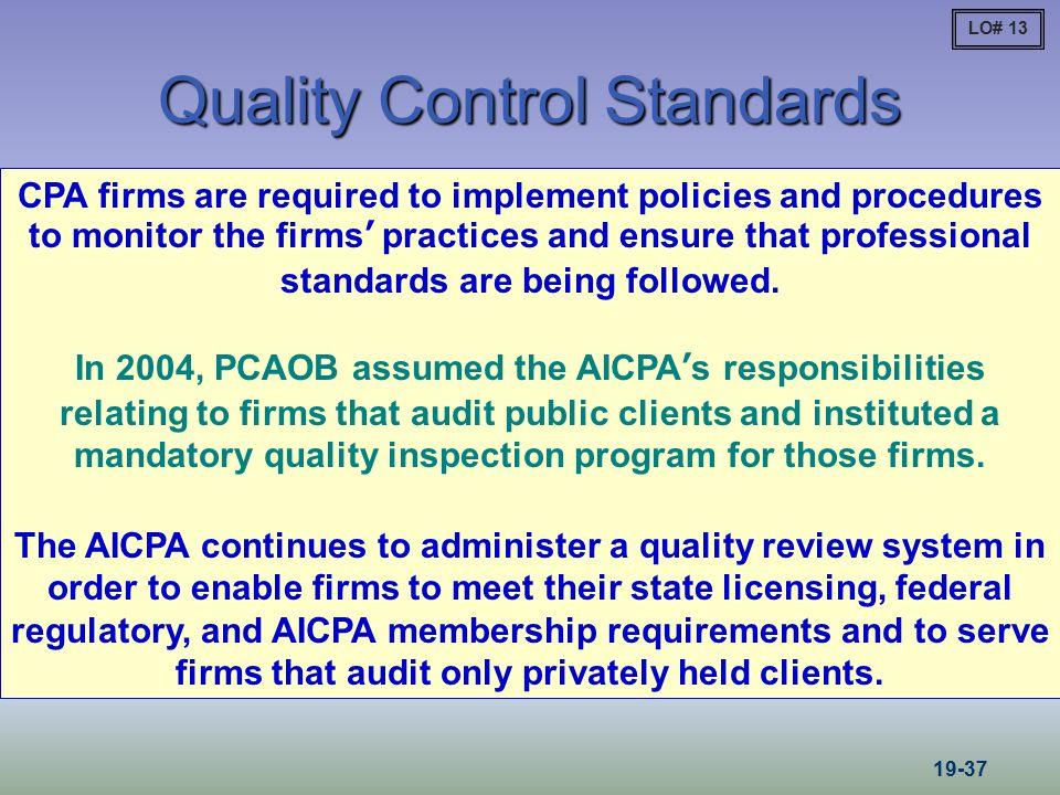 Quality Control Standards