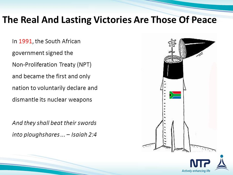 The Real And Lasting Victories Are Those Of Peace