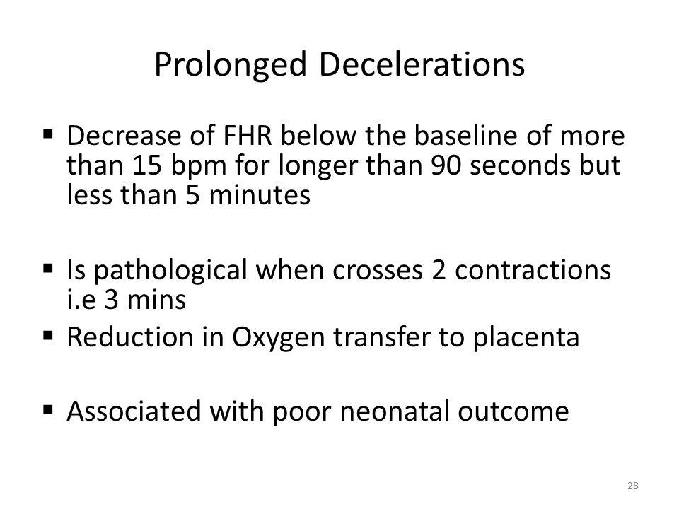Prolonged Decelerations