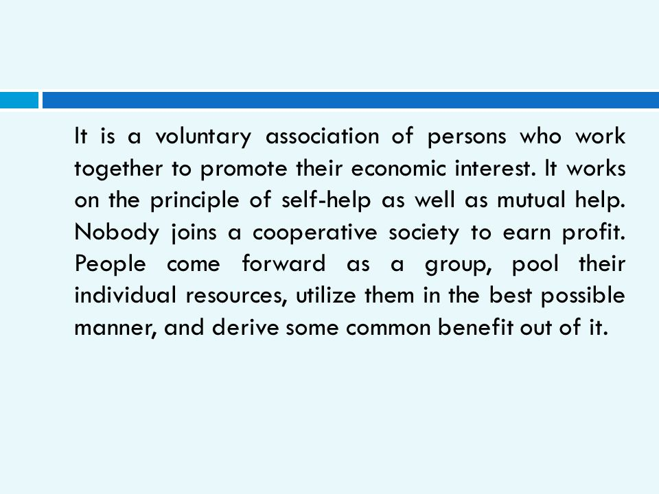 It is a voluntary association of persons who work together to promote their economic interest.