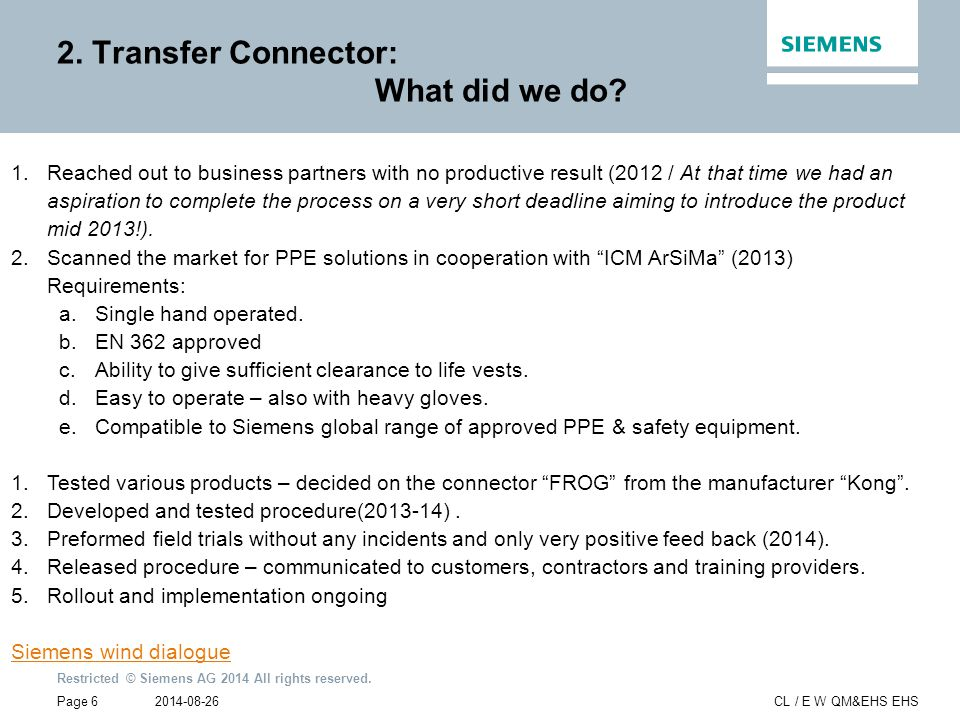 2. Transfer Connector: What did we do