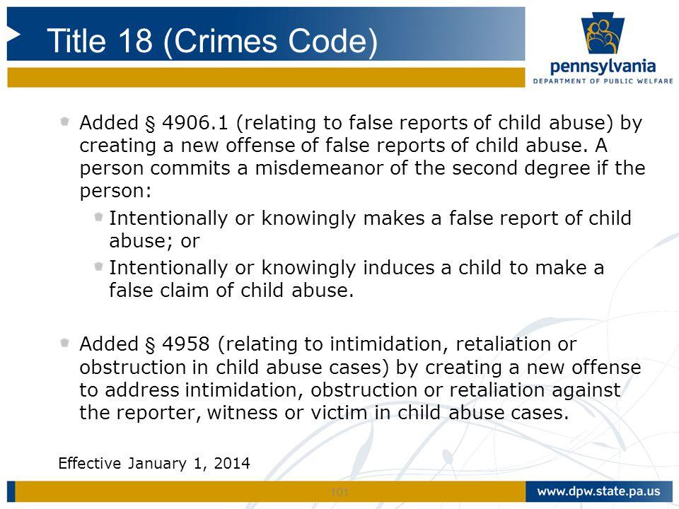 Title 18 (Crimes Code)