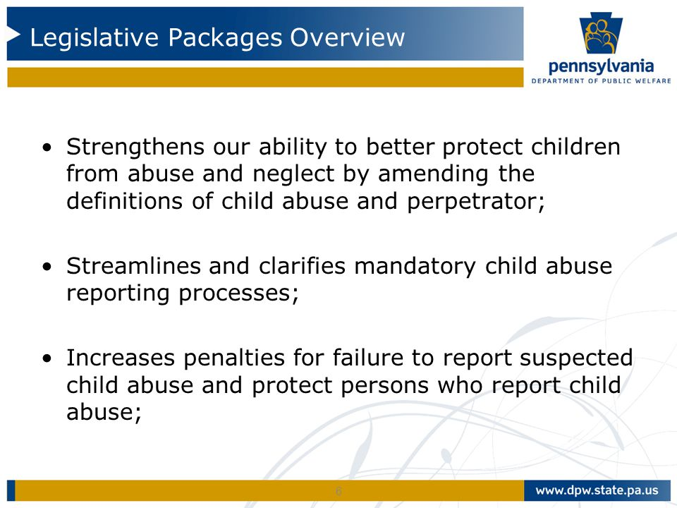 Legislative Packages Overview