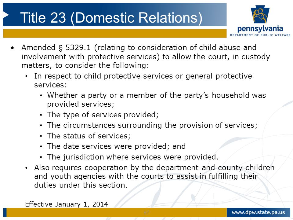 Title 23 (Domestic Relations)
