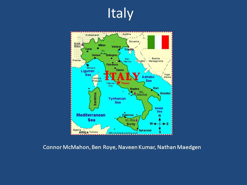 Italy Connor McMahon, Ben Roye, Naveen Kumar, Nathan Maedgen