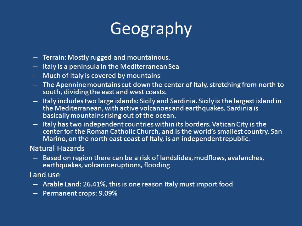 Geography Natural Hazards Land use