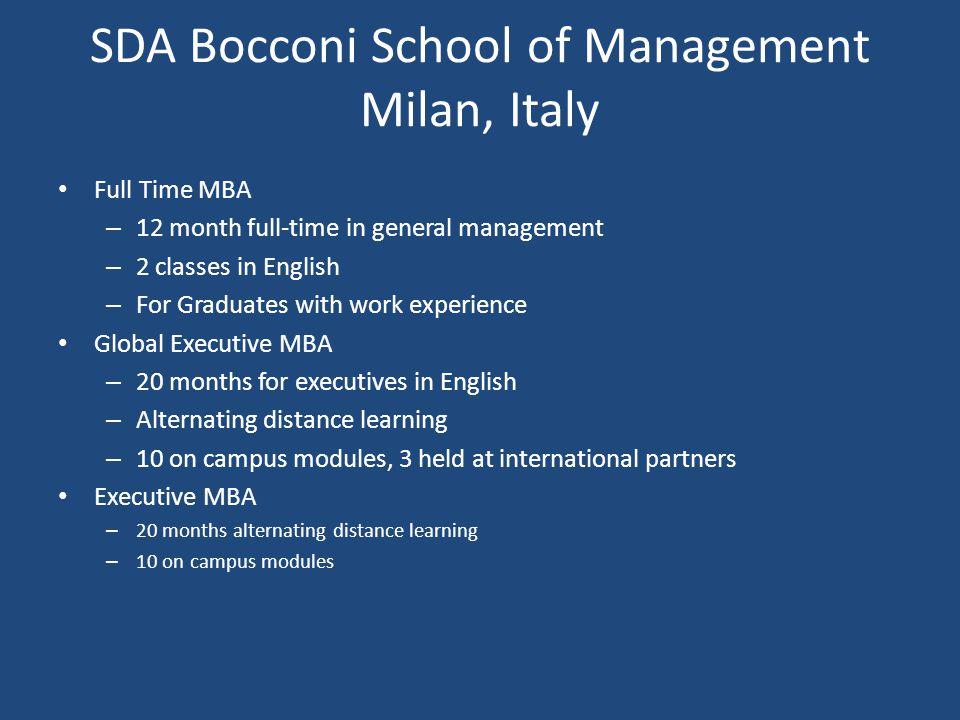 SDA Bocconi School of Management Milan, Italy