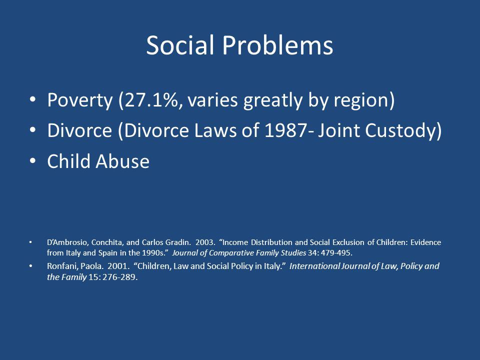 Social Problems Poverty (27.1%, varies greatly by region)