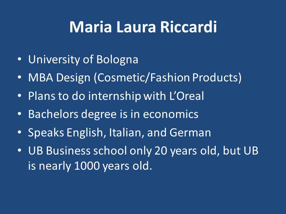 Maria Laura Riccardi University of Bologna