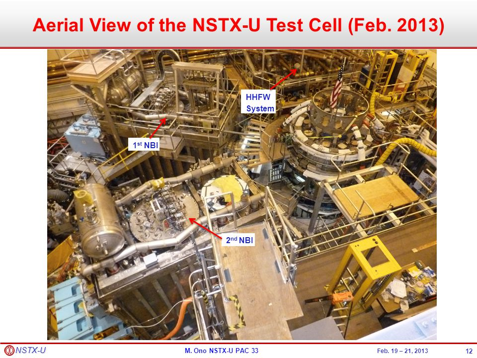 Aerial View of the NSTX-U Test Cell (Feb. 2013)