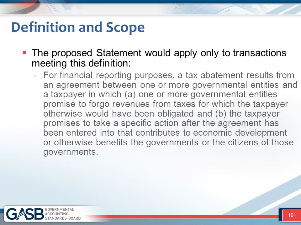 Definition and Scope The proposed Statement would apply only to transactions meeting this definition: