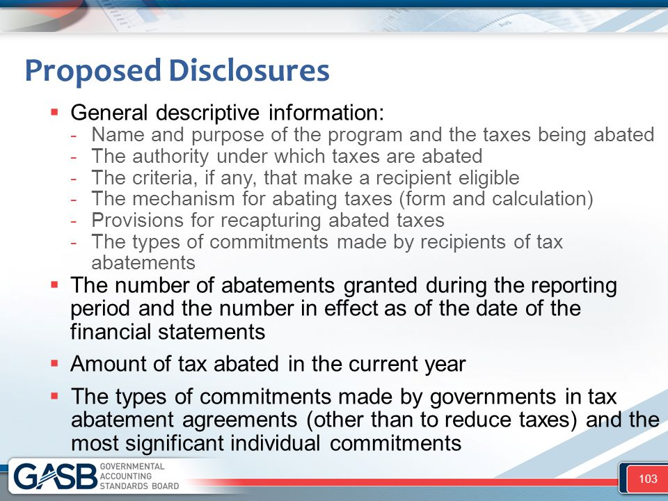 Proposed Disclosures General descriptive information: