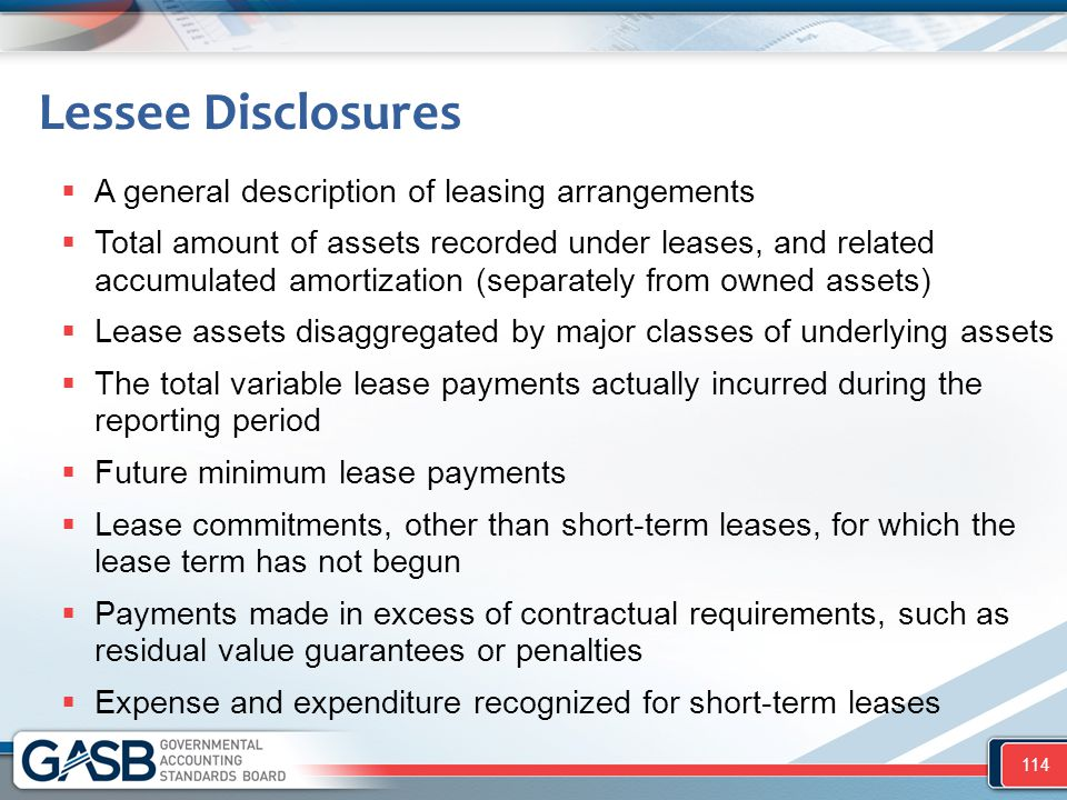 Lessee Disclosures A general description of leasing arrangements