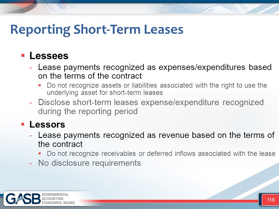 Reporting Short-Term Leases